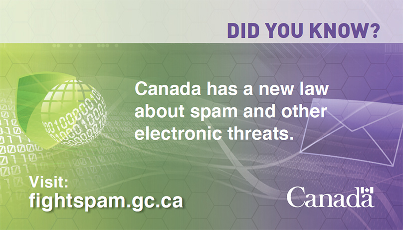Link to Canadian Anti Spam Law website