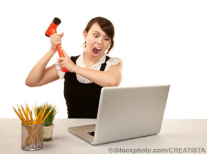 You can scream at the computer, or network with business colleagues to create solutions (Photo)