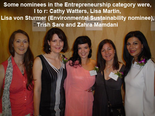 Women of Distinction 2012 - Entrepreneurship nominees (Photo)