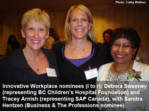 Women of Distinction 2012 - Innovative Workplace nominees (Photo: Cathy Watters)
