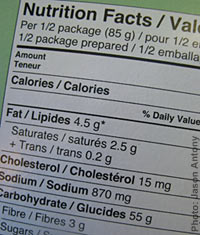 Read ingredients to find out which fats are in your food.