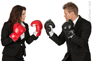 Conflict resolution skills are important for business. (Photo)