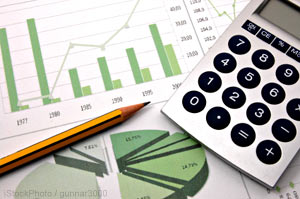 Is your business financially healthy? (Photo of financial charts)