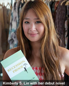 "Kimberly S. Lin with her debut novel, ""Recession Proof."""
