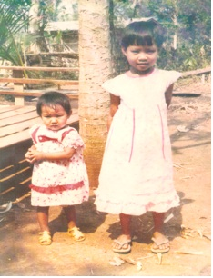 The sisters, growing up in Thailand, learned about business from their parents. (Photo)
