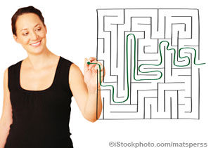 A Business Plan can be like a Map through a maze. (Photo)