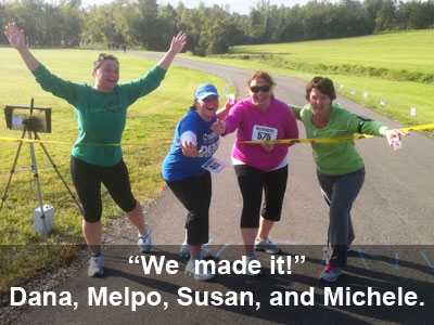 We did it! Couch to 5K participants cross the finish line. (Photo courtesy of ML Broxton)