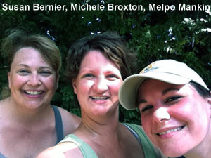 Susan Bernier, Michele Broxton and Melpo Mankin train with Couch to 5K