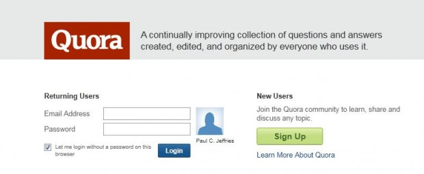 How to sign in to Quora (photo)