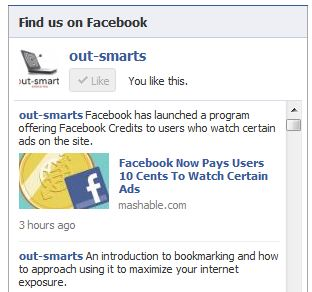 Example of a Facebook Widget.