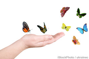 To create a unique brand, find your authentic self (photo of butterflies)