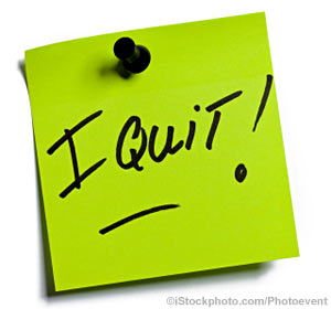 In business, when is Quitting okay?