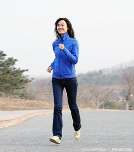 Entrepreneurs find fun ways to stay fit (Photo of woman jogging)