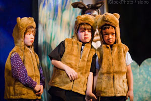 School Play, Children dressed as Lions